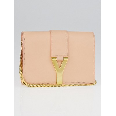 Yves Saint Laurent Pink Leather Y-Ligne Mini Pochette Crossbody Bag