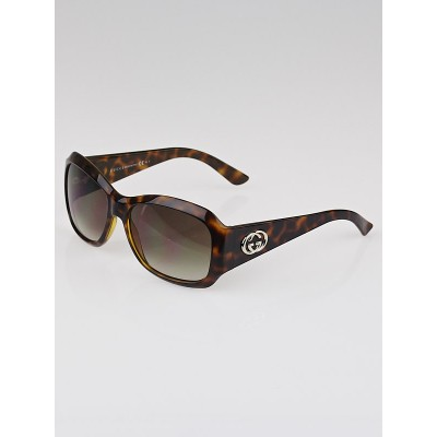 Gucci Brown Tortoise Shell Gradient Tint GG Sunglasses - 3102/S