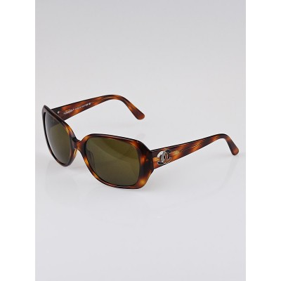 Chanel Brown Tortoise Shell Brown Tint CC Sunglasses-5101