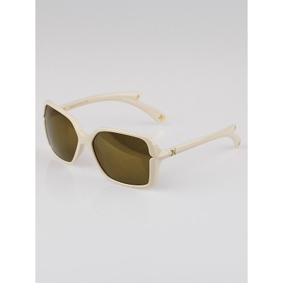 Louis Vuitton Cream Resin Frame Flore Carre Sunglasses-