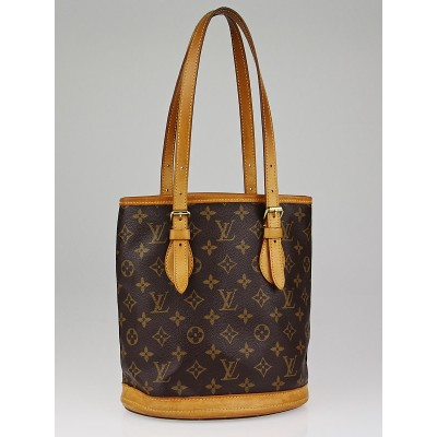 Louis Vuitton Monogram Canvas Petit Bucket Bag w/ Accessory Pochette