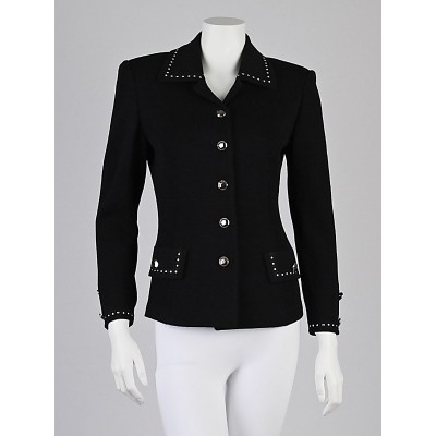 St. John Collection Black Knit Jacket Size 2