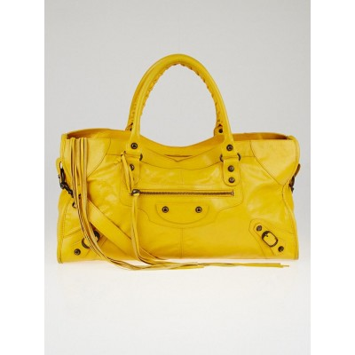 Balenciaga Mangue Lambskin Leather Part Time Bag