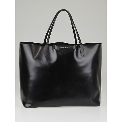 Givenchy Black Leather Antigona Shopping Tote Bag
