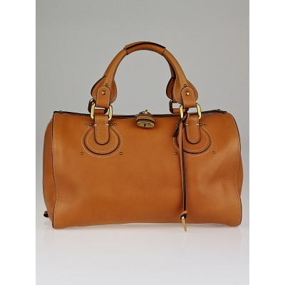Chloe Caramel Leather Aurore Duffel Bag