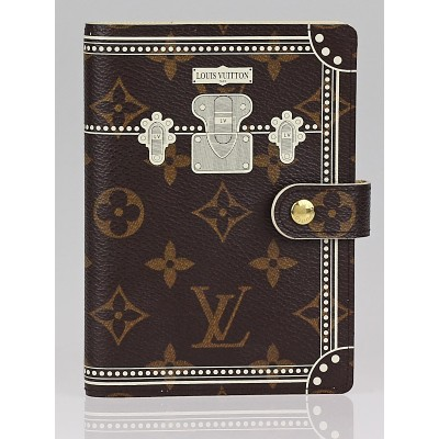 Louis Vuitton Limited Edition Monogram Canvas White Trunk Small Ring Agenda Cover