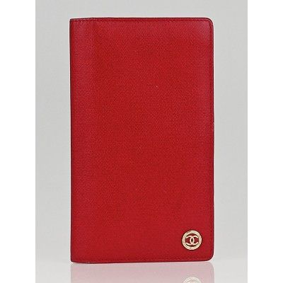 Chanel Red Leather L-Yen CC Wallet
