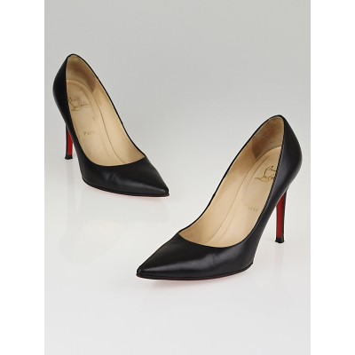 Christian Louboutin Black Leather New Hai 100 Pumps Size 8.5/39