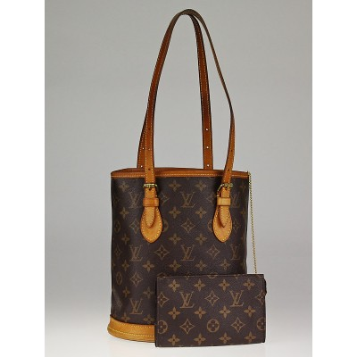 Louis Vuitton Monogram Canvas Petite Bucket Bag w/Accessories Pouch
