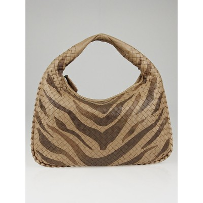Bottega Veneta Tiger/Ayers Intrecciato Woven Leather Medium Veneta Hobo Bag