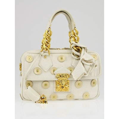 Louis Vuitton Limited Edition Beige Canvas Polka Dots Panema Tinkerbell Bag