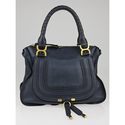 Chloe Overseas Leather Medium Marcie Satchel Bag