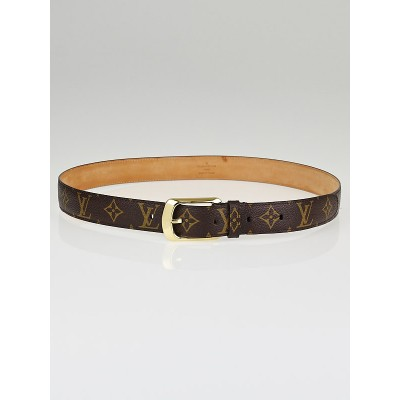 Louis Vuitton Monogram Canvas Ellipse Belt Size 95