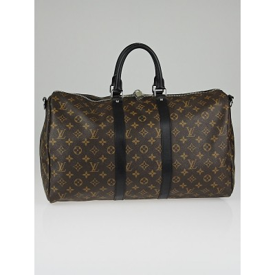 Louis Vuitton Monogram Macassar Canvas Keepall Bandouliere 45 Bag w/o Shoulder Strap
