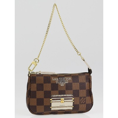 Louis Vuitton Limited Edition Damier Canvas Inventuer Trunks & Locks Mini Accessories Pochette Bag