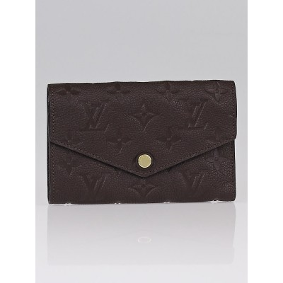 Louis Vuitton Terre Empreinte Leather Compact Curieuse Wallet