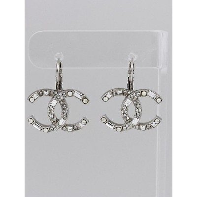 Chanel Crystal CC Drop Earrings