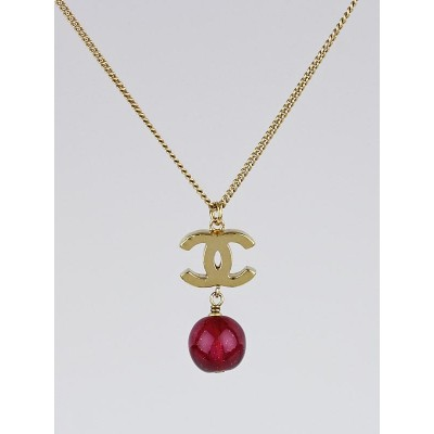 Chanel Gold Chain and Bead CC Long Necklace