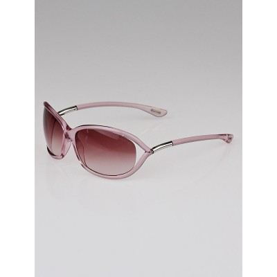 Tom Ford Pink Resin Frame Gradient Tint Jennifer Sunglasses - TF8