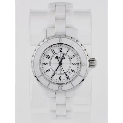 Chanel White J12 Ceramic 33mm Swiss Quartz Watch