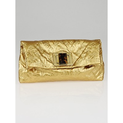 Louis Vuitton Limited Edition Gold Monogram Jacquard Pochette Altair Clutch Bag