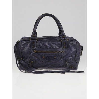 Balenciaga Ink Chevre Leather Box Bag
