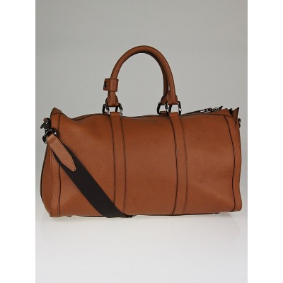 Burberry Camel Leather  London Holdall Travel Bag