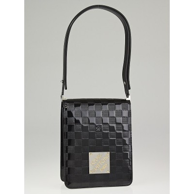 Louis Vuitton Limited Edition Black Damier Vernis Caberet Club Shoulder Bag