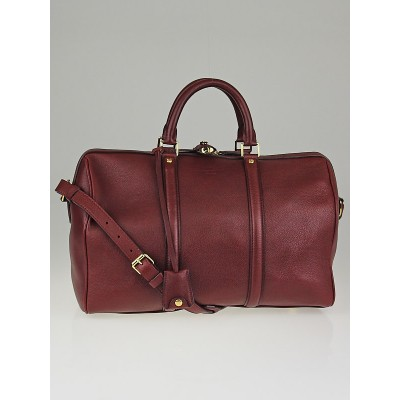 Louis Vuitton Wine Calf Leather Sofia Coppola Bag