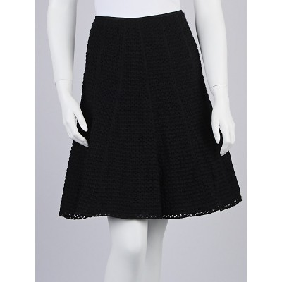 Giorgio Armani Black Wool Blend Gored Skirt Size 6/40