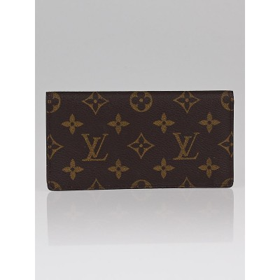 Louis Vuitton Monogram Canvas Simple Checkbook Wallet