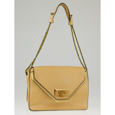 Chloe Tan Leather Sally Medium Shoulder Bag