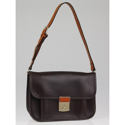 Chloe Chocolate Leather Shoulder Bag