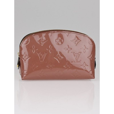 Louis Vuitton Rose Velours Monogram Vernis Cosmetic Pouch