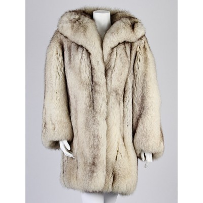 Christian Dior Fox Fur Coat Size 8