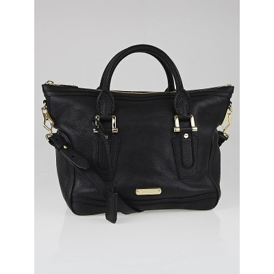Burberry Black Leather Small Kirley Satchel Bag