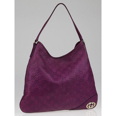Gucci Purple Guccissima Leather New Britt Hobo Bag