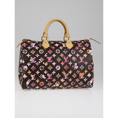 Louis Vuitton Limited Edition Richard Prince Watercolor Aquarelle Monogram Canvas Speedy 35 Bag