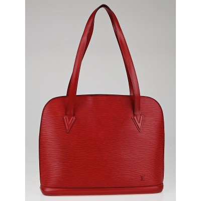 Louis Vuitton Red Epi Leather Lussac Tote Bag