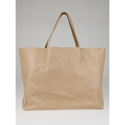 Celine Beige Lambskin Leather Horizontal Cabas Tote Bag