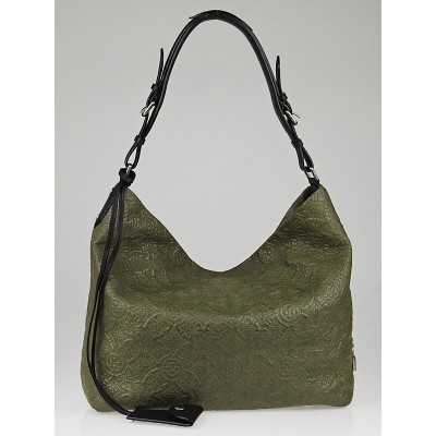 Louis Vuitton Khaki Monogram Antheia Leather Hobo PM Bag