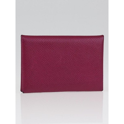 Hermes Tosca Epsom Leather Calvi Card Case