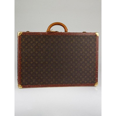 Louis Vuitton Vintage Monogram Canvas Alzer 65 Hardsided Trunk