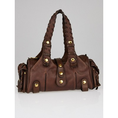 Chloe Brown Buffalo Leather Small Silverado Bag