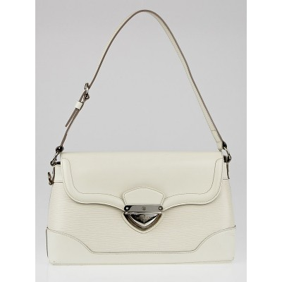 Louis Vuitton White Epi Leather Bagatelle PM Bag