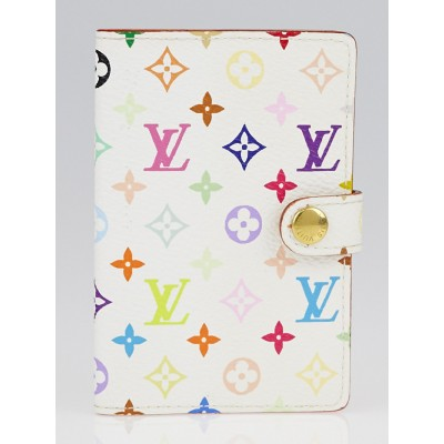 Louis Vuitton White Monogram Multicolore Carnet de Bal Mini Address Book