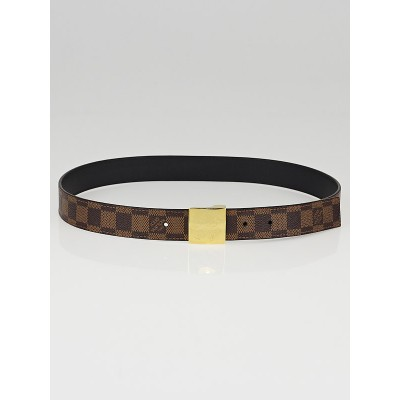 Louis Vuitton Damier Canvas LV Paris Reversible Belt Size 85/34