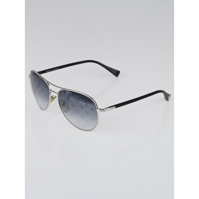Louis Vuitton Silvertone Metal Conspiration Pilote Sunglasses