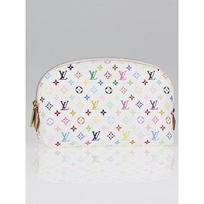 Louis Vuitton White Monogram Multicolore Cosmetic Pouch