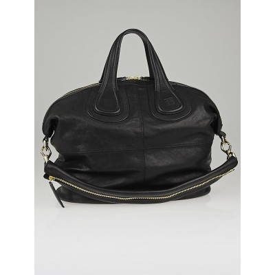 Givenchy Black Lambskin Leather Medium Nightingale Bag